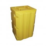 Säulen- und Pfostenschutz aus Polyethylen, gelb LxBxH 695 x 640 x 1000 mm