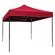 Сгъваема метална шатра FZD 3x3 м, червена