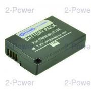 2-Power Digitalkamera Batteri Panasonic 7.2v 1010mAh (DMW-BLD10)