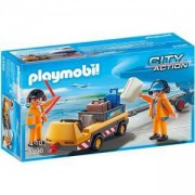 Комплект Плеймобил 5396 - Влекач на самолет с екипаж на земята, Playmobil, 2900075