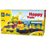 Joc de constructie Mubi Trenuletul Vesel Blocki, 36 piese, 3 - 7 ani