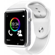 "Smartwatch Cronos A1, TFT LCD Capacitive touchscreen 1.54"", 2G, Bluetooth (Argintiu/Alb)"