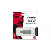 Pendrive, 16GB, USB 3.1, KINGSTON DT50, ezüst-zöld (UK16GDT50)