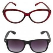 mias Cat-eye, Wayfarer Sunglasses(Brown, Black)