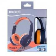 Безжични Bluetooth слушалки MAXELL BT800 HP, Blue/Orange, литиево-йонна батерия, ML-AH-BT800-BLU-OR