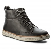 Обувки CLARKS - Norsen Mid 261278327 Dark Grey Leather