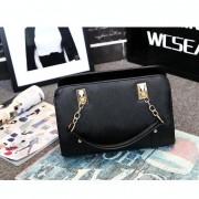 Casual PU schouder tas dames handtas messengertas (zwart)