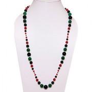 The Haat Onyx Quartz Stone Necklace (Multicolor)