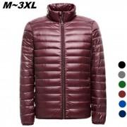Escudo de los hombres Ultra Ligero delgada Down Jacket - Rojo (XL)