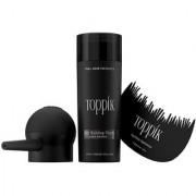 Toppikk Hair Building Fibres 27.5 g Dark Brown with Hairline Optimiser Comb Spray Applicator Pump!!