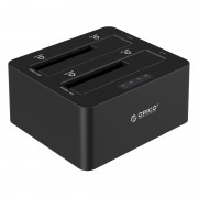 ORICO Professional 2-Bay USB3.0 Hard Drive Docking Station for 2.5/3.5 inch HDD/SSD with Clone Function (6629US3-C) - AU Plug