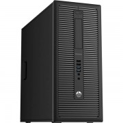 Calculator HP EliteDesk 800 G1 Tower, Intel Core i5 Gen 4 4590 3.3 GHz, 8 GB DDR3, 120 GB SSD NOU, DVD-ROM, Windows 10 Home