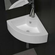 vidaXL Umivaonik sa zaštitom od prelijevanja 45 x 32 x 12,5 cm bijeli