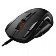 Мишка SteelSeries Rival 500, оптична (16000 dpi), USB, черна, геймнг, програмируеми бутони, подсветка