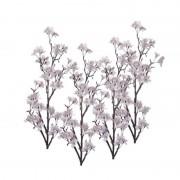 Bellatio flowers & plants 4x Appelbloesem kunstbloem takken 104 cm