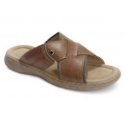 Footflexx® Heren comfort sandalen (42, Bruin)