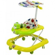 NewAge High Quality Panda Ducky Musically Walker with Adjustable Height Handle Rattles for Baby (Green)