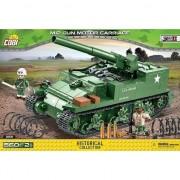 Set de constructie Cobi, WWII, Tanc M12 GUN MOTOR CARRIAGE, 560 piese