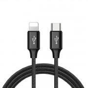 Laddkabel iPhone / iPad Typ-C kontakt Svart