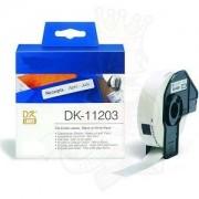 Italy's Cartridge ETICHETTE DK11203 17mmX87mm COMPATIBILI BIANCHE ROTOLO DA 300 PZ PER BROTHER QL1000 1050 1060 WHITE DK-11203 CON SUPPORTO