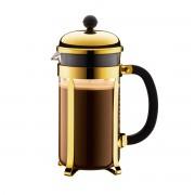 Bodum CHAMBORD® Cafetière à piston, 8 tasses, 1.0 l, acier inox Or