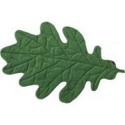 Leaf-it Plaid Deken Blad Eik M - Donkergroen - Vloerkleed