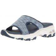 Skechers Cali Women's D'Lites-Cool Footings Wedge Sandal, Blue, 5 M US