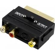 Deltaco adapter RCA video och S-video till SCART hane