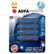 Solight Power alkalická baterie AgfaPhoto LR06/AA, 1,5 V, blistr 4 ks