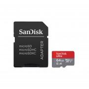 Memoria Sandisk Ultra MicroSDXC A1 De 64 GB, Clase 10. SDSQUAR-064G-GN6MA