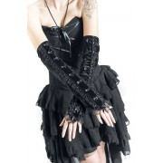 Sinister Gothic Gothic Arm Warmers Stulpen-schwarz Onesize Damen