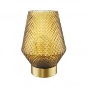 HAILEY LED Skleněná lampa se zlatým okrajem 17,5 cm - zlatá