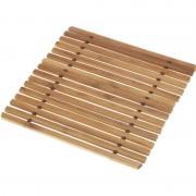 Geen 1x Pannen onderzetter bamboe 18 cm