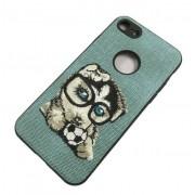 Protectie Spate Lemontti Embroidery Gray Puppy LECIPH7M7 pentru Apple iPhone 7, iPhone 8, iPhone SE 2020 (Gri)