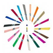 Pachet WOW hartie creponata 19 culori vii DP Collection CADOU adeziv solid 40gr.