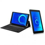 """Alcatel 1T 10"""" 8082 (16 GB, Wi-Fi, GPS), batería 4000 mAh, tablet Android con teclado Bluetooth + funda protectora (negro azulado)"""