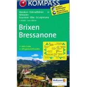 Wandelkaart 56 Brixen - Bressanone | Kompass