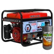 Generator curent MEDIA LINE MLG 3500/1 3KVA motor 7 CP monofazat combustibil benzina alternator sincron tip AVR cu perii + CADOU Ulei