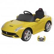 "vidaXL Детско ""Ferrari F12"" с дистанционно управление, 6 V, жълто"