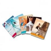 Caiet A5, 48 file - 80g/mp, liniat stanga, coperta imagini sport, AURORA Splendid - matematica