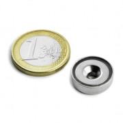 Magnet neodim oala cu gaura ingropata, Fi 16 mm, putere 4 kg