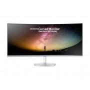 "Samsung Monitor 34"" Samsung Lc34f791wqu Led Curvo 21:9 Uwqhd Hdmi Hub Usb Refurbished Bianco"