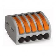 Conector de terminale cu clips-tip WAGO-5x4mm- Gri