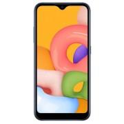 "Telefon Mobil Samsung Galaxy A01, Procesor Snapdragon 439, Octa-core, PLS TFT Capacitive touchscreen 5.7"", 2GB RAM, 16GB Flash, Camera Duala 13+2MP, 4G, Dual Sim, Wi-Fi, Android (Albastru) + Cartela SIM Orange PrePay, 6 euro credit, 6 GB internet 4G, 2,00"