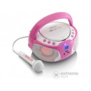 Lenco SCD-650 Karaoke CD radio, pink