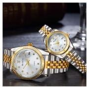 Pareja Reloje Para Hombre Y Mujer,2 Relojes,Casual Simple Reloj
