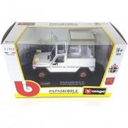 Bburago modellino 15631018, auto papamobile in scala 1:43, mercedes benz g500