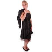 Korte jurk zwart met overslag-36/38