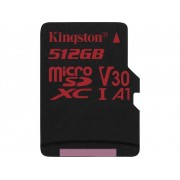 Kingston Canvas React microSDXC-Kort 512 GB Class 10, UHS-I, Class 3 UHS-I , v30 Video Speed Class