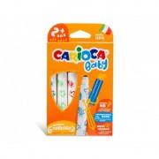 Set 6 markere de colorat lavabile pentru bebelusi - Carioca
